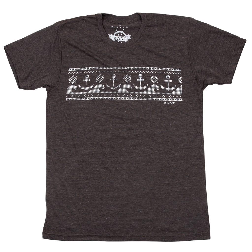 Kant, Mønster, T-skjorte, Gråbrun